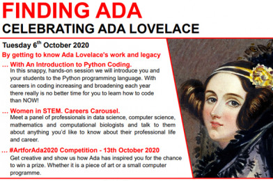 Ada Lovelace Day – Virtual Coding Sessions for Schools!