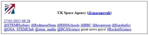 space agency tweet